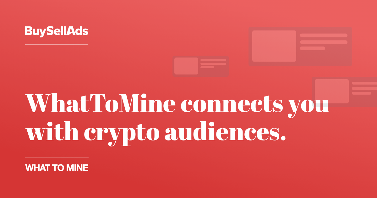 Advertise On Whattomine Buysellads $30,790.30 $58.99 $978.64 $135.57 $6.80 $88.21 $152.90 follow @whattomine dark mode. advertise on whattomine buysellads